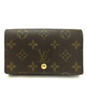 Auth Louis Vuitton Monogram Porte Monnaie Billets